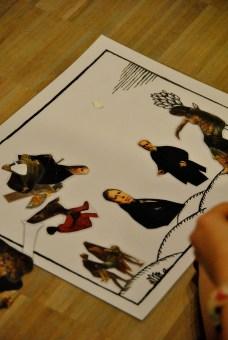 We verzinnen verhalen met figuren uit kunstwerken.