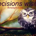 निर्णय बुद्धिमत्ता से …।