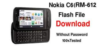 Nokia C6 (RM-612) Latest Flash File Download