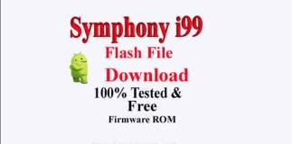Symphony i99 Flash File Download [100% Tested Firmware]