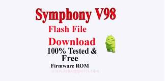 Symphony V98 Flash File Download Without Password [100% tested Firmware]