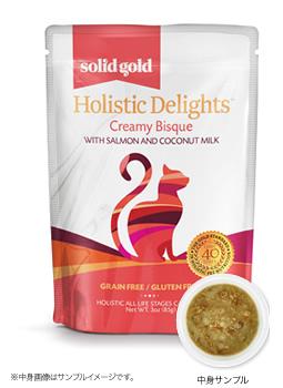 ソリッドゴールド パウチサーモン&ココナッツミルク(猫用) 製品イメージ