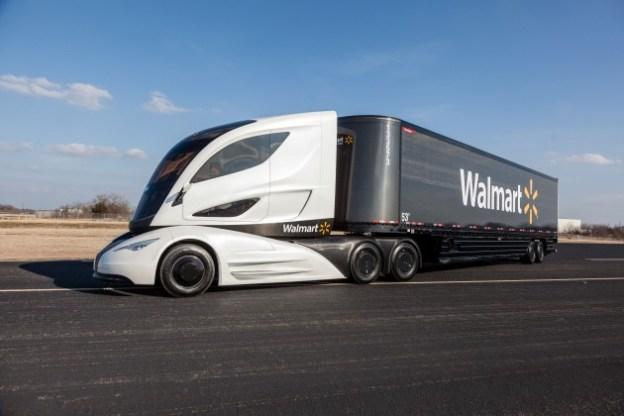 Walmart Debuts Super Futuristic Electric Truck Protoype
