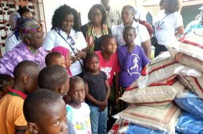 First Lady Clar Weah climaxed donation tours to vulnerable groups.