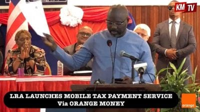 President Weah launches Tax payment using Mobile Money.