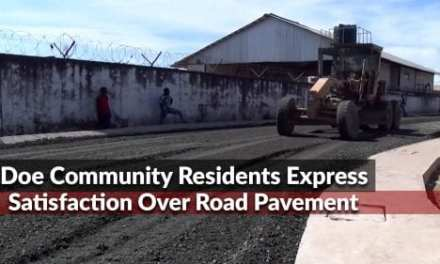 Doe Community Residents Express Satisfaction Over Road Pavement; Thank President Weah For The Initiative
