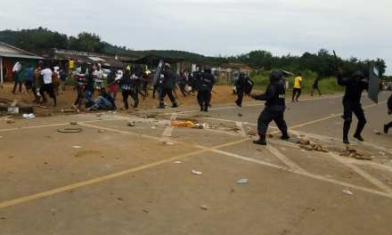 One Reported Dead in Violent Clash between Demonstrators and Riot Police