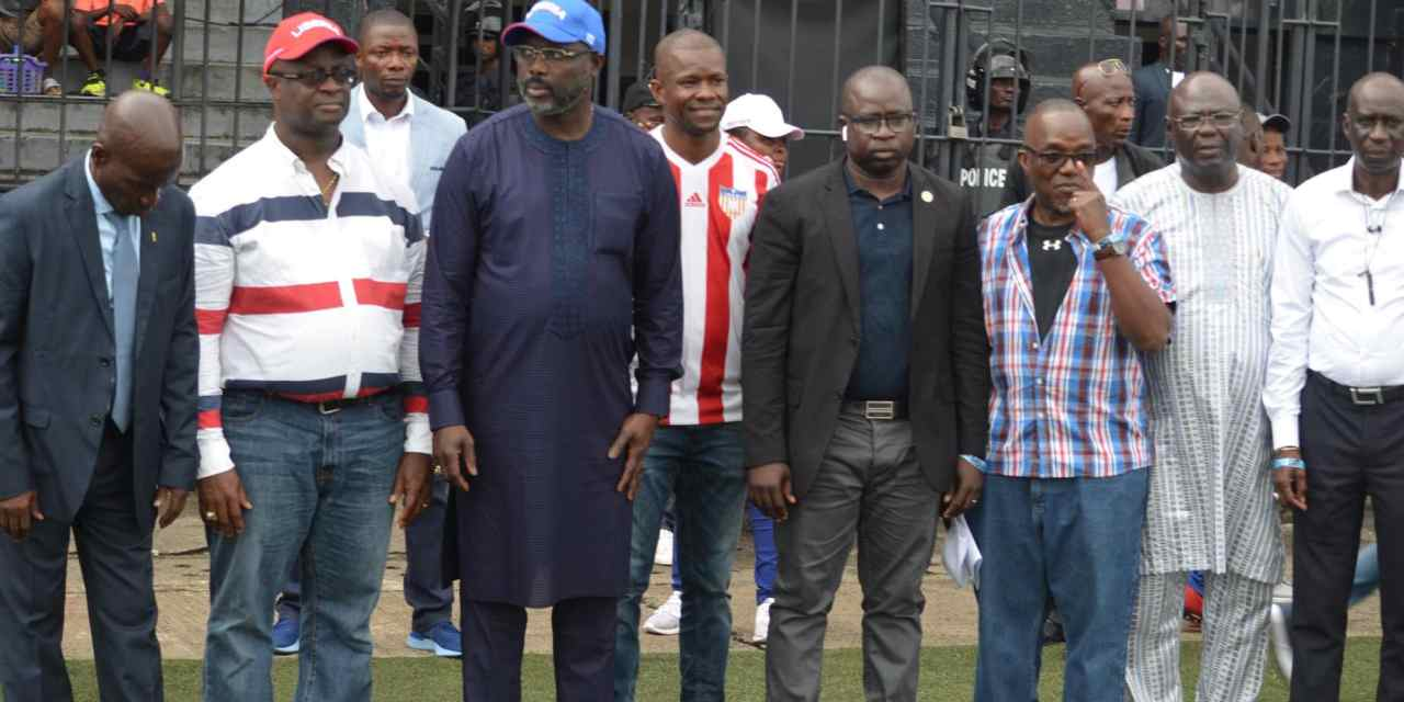 Chief Patron Of Sports George Weah Condemns Pitch Invasion, Apologizes To FIFA For Such Embarrassing Behavior