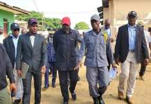 George Weah at Monrovia Central Prison