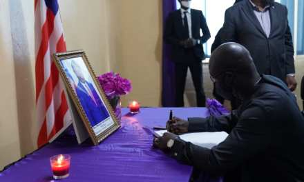 PRESIDENT WEAH EULOGIZES AND SIGNS BOOK OF CONDOLENCE FOR FALLEN PUBLIC WORKS MINISTER