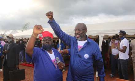 """DON'T LIE TO BE ELECTED"" PRESIDENT WEAH WARNS; AS HE ENDORSES TYLER FOR BOMI CO. SENATOR"