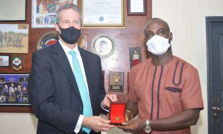 U S AMBASSADOR STRESSES PARTNERSHIP