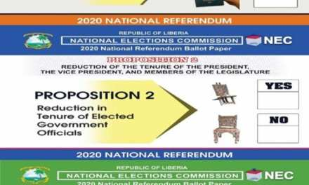 "PRESIDENT WEAH LEADS THE ""YES"" CAMPAIGN ON REFERENDUM"