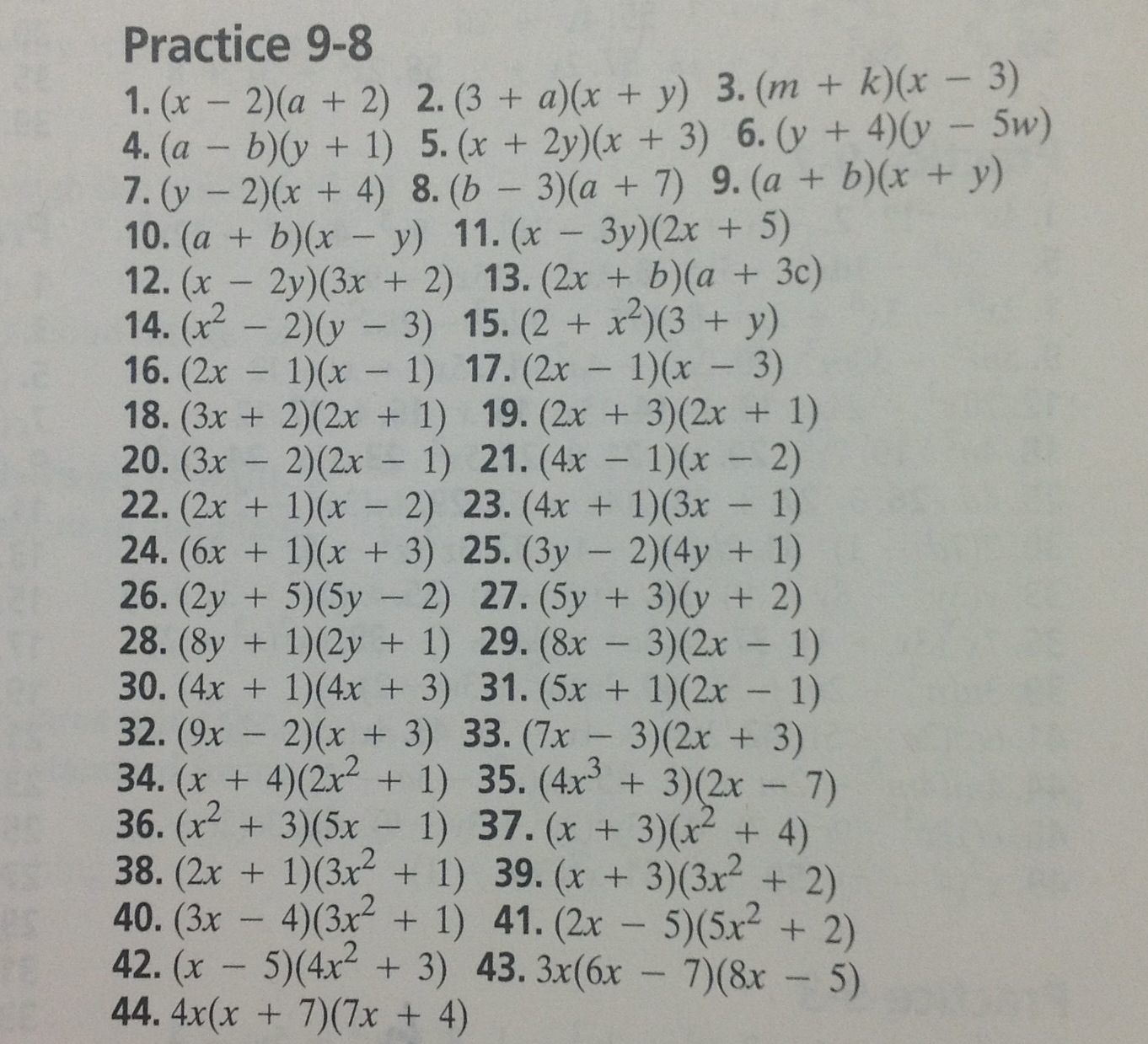 Algebra 1 Glencoe Mcgraw Hill Answer Key For Homework Practice Workbook