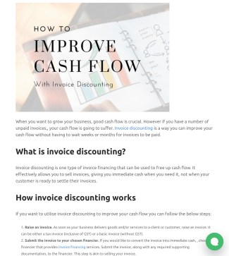 Blog post - How to improve cashflow with invoice discounting