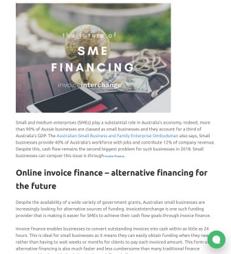 Blog post - The future of SME financing