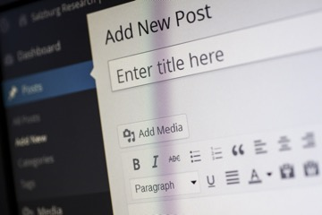 The 'new blog post' screen in Wordpress (pre Gutenberg)