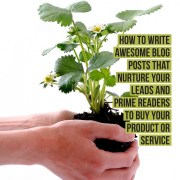 How to write awesome blog posts that nurture your leads and prime readers to buy your product or service