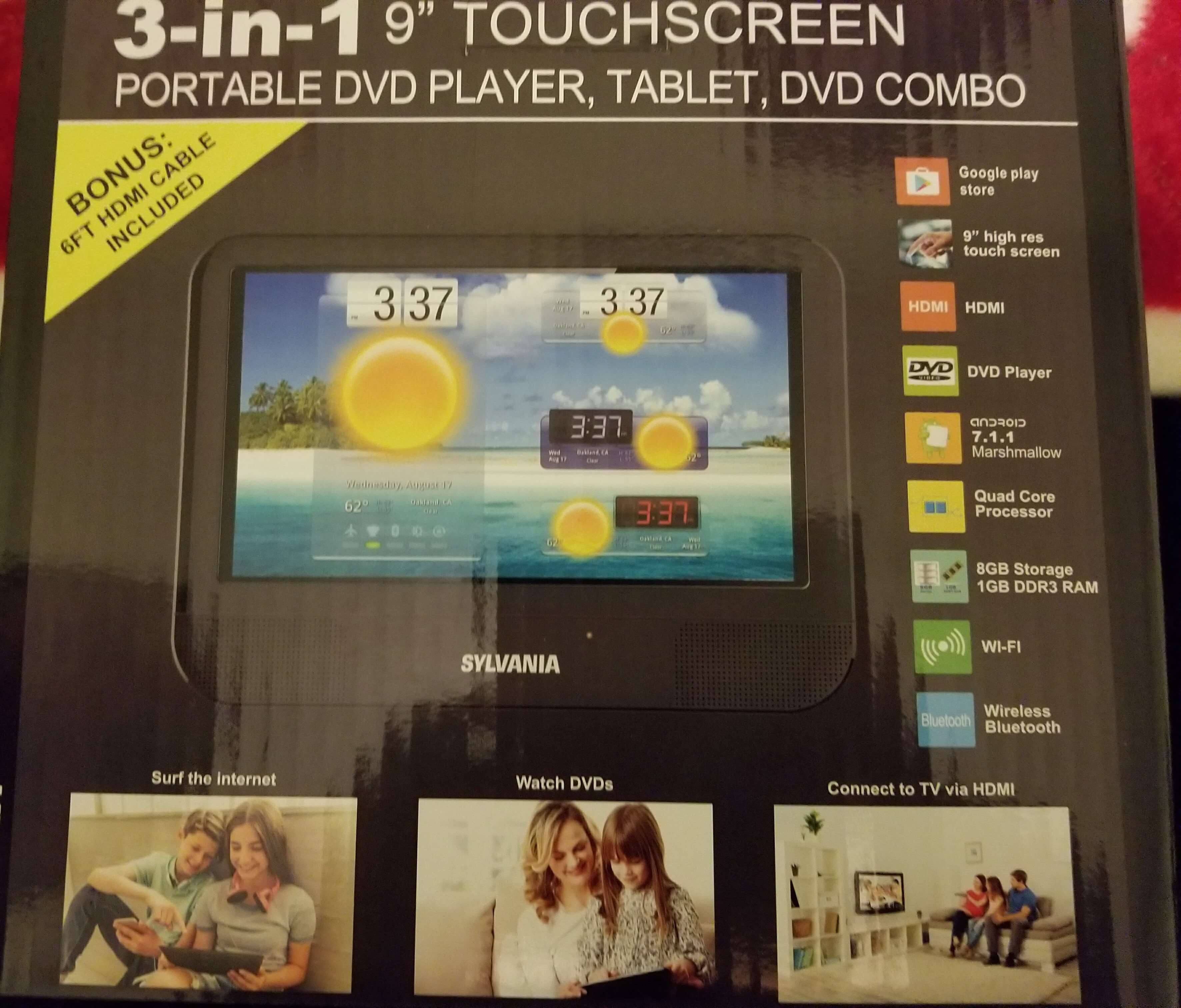 Odd Tech : Sylvania SLTDVD9220-C – A Portable DVD Player that Doubles as a Android Tablet