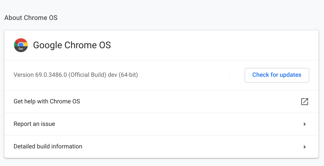 ChromeOS 69.0.3486.0 brings several minor changes but introduces a few new bugs