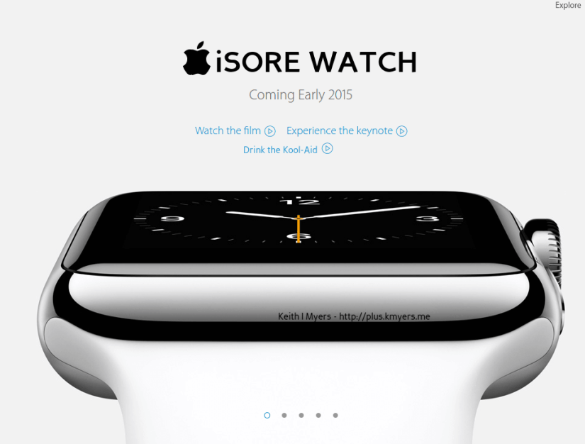 EXCLUSIVE - Apple re-brands the Apple Watch again... meet the new iSore Watch.  #iWatch #AppleWatch #iSore
