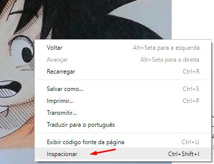 Como salvar fotos do Instagram no PC inspecionar a imagem