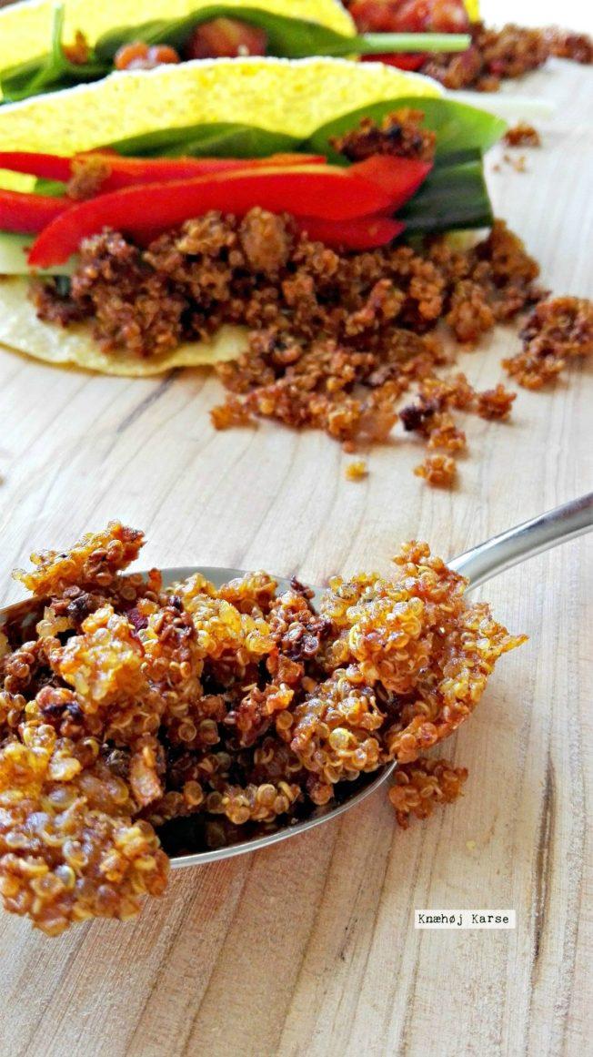 Tacofyld lavet af quinoa