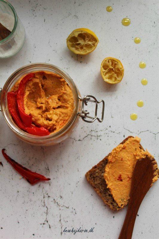 Hummus med peberfrugt