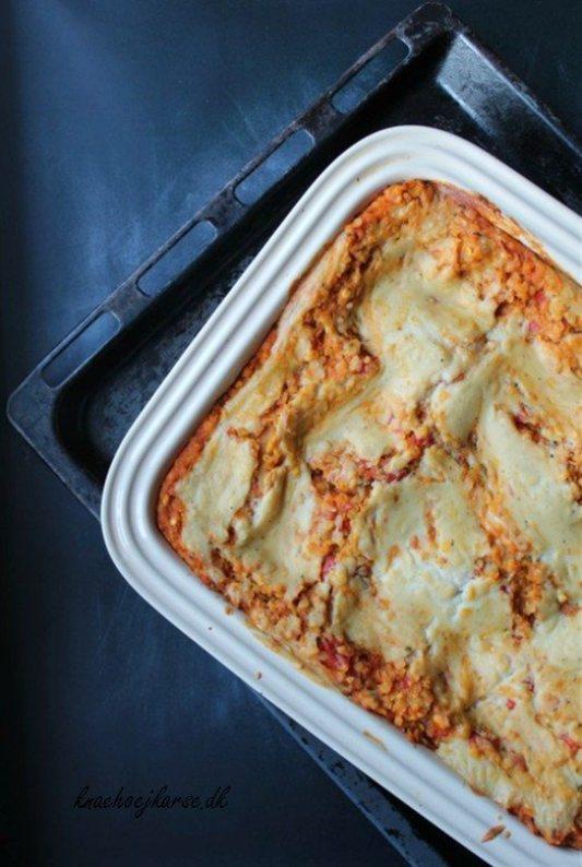 Vegansk lasagne med bechamel