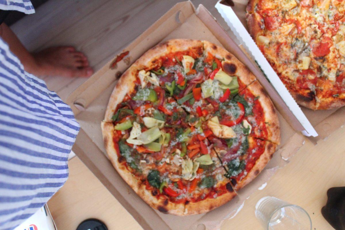 Vegansk pizza uden ost