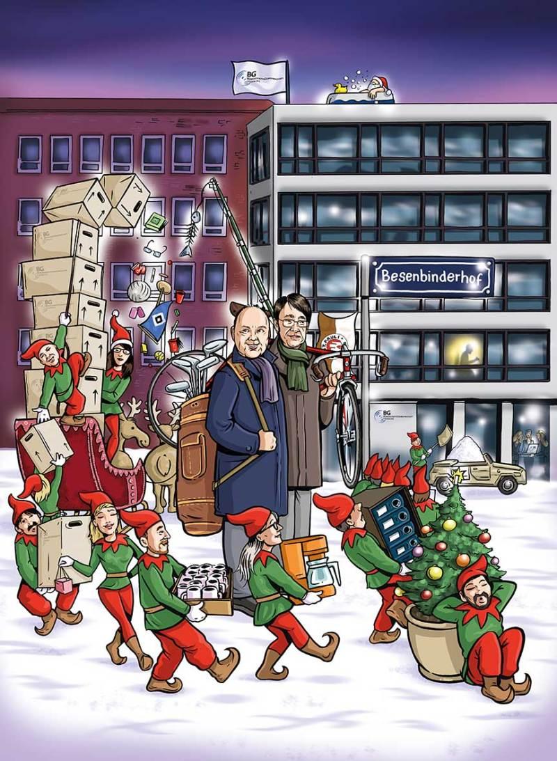 Wimmelbild Kalender Weihnachten
