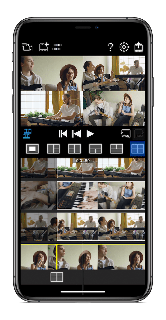 Roland's 4XCamera Maker is a powerful multi-angle video editor for iOS