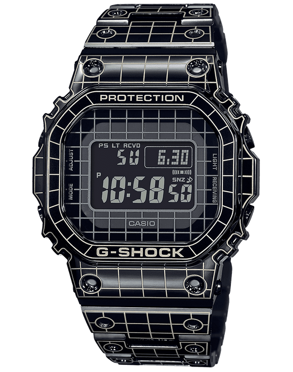 This sweet grid Casio is laser-carved