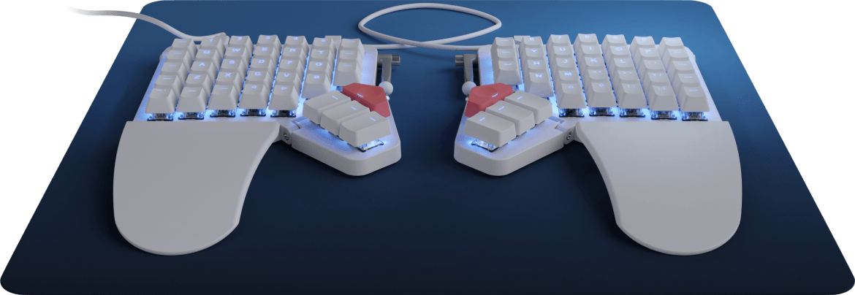Moonlander Mark I keyboard – typing on the moon