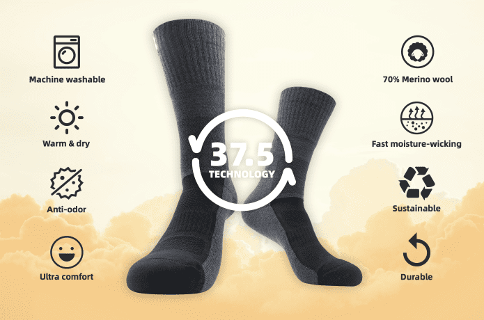 Keep your feet warm (and stink free) with MP Merino Socks