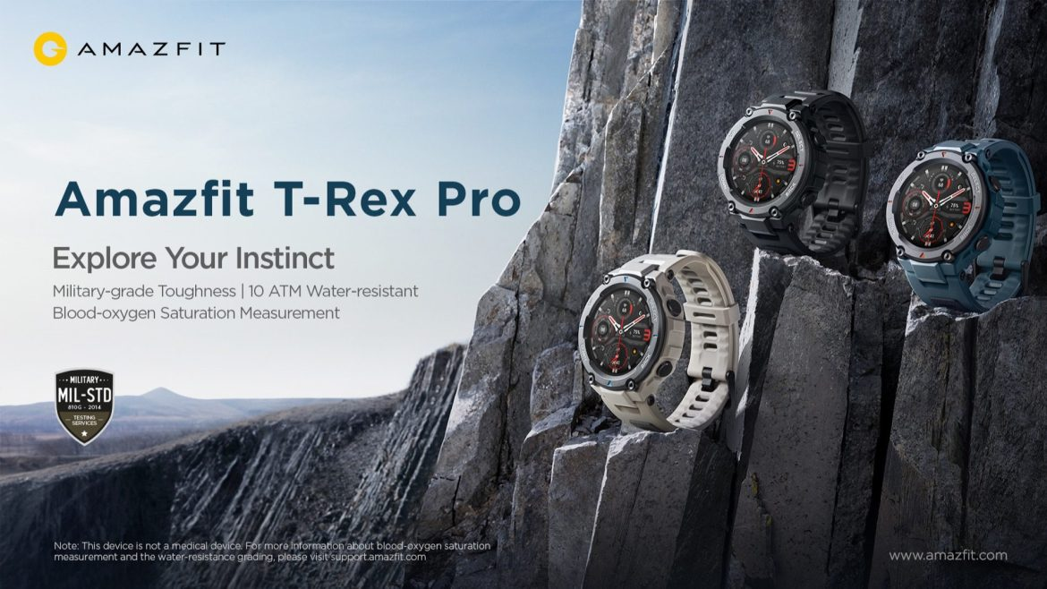 Go MilSpec in your workout with the Amazfit T-Rex Pro