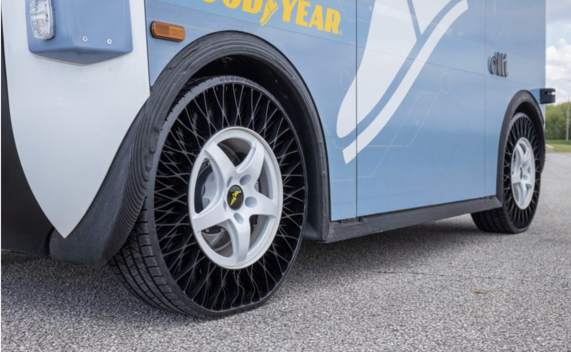 Goodyear is experimenting with 3D printed non-pneumatic tires