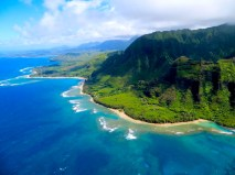 Na Pali Coast Helicopter View