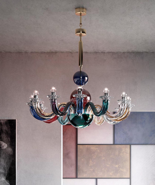 lampadario e apliche in ottone e vetro opalino lampadario muraro venini gio ponti. Venini Gio Ponti Chandeliers Multicolor Available At Kneen Co