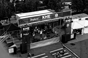 KNE-Staging---Milwaukee-Stage-Rental---Summerfest-BW-Aerial