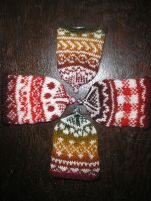 knitted egg caps with fair-isle-motifs to warm our (Easter) breakfast eggs