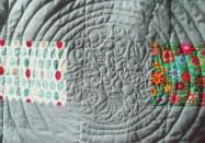 Quilt back - detail