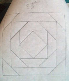 I used a simple pineapple pattern - the middle square is 1 inch.