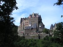 Eltz Castle not far from Beilstein - a medieval castle: one of only two on the left bank of River Rhine which was never been destroyed - situated on a 70 m rock spur, on an important Roman trade route