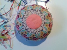 small fuzzy cut pincushion inspired by Jeanneke @http://jeanneke.com/#home