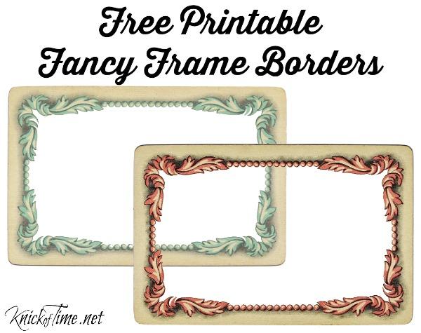 Vintage Frame Printables