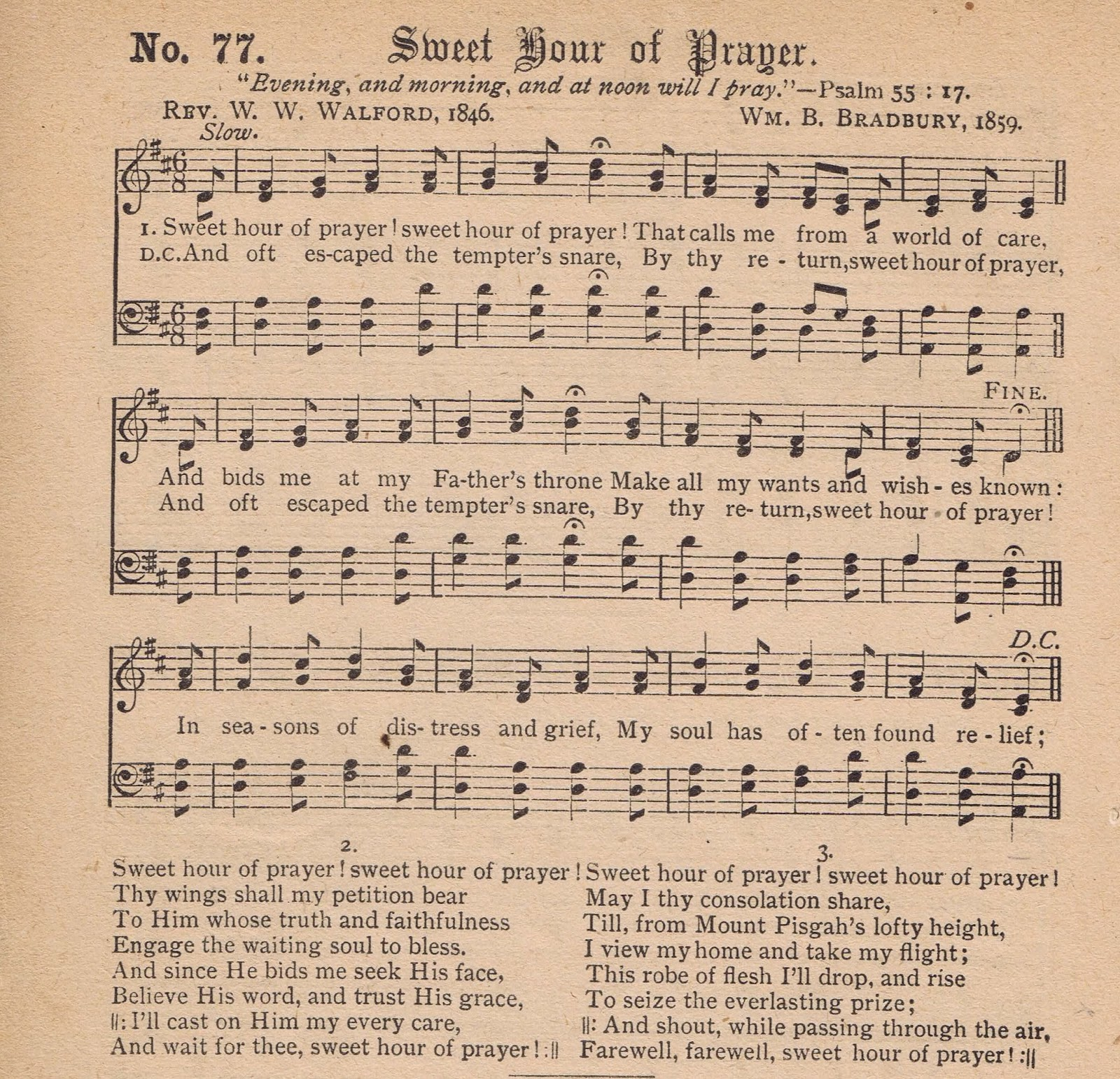 Printable Antique Hymn Page