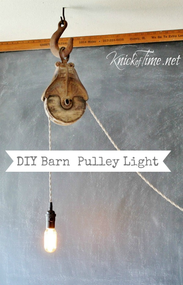Barn Pulley Light Knick Of Time