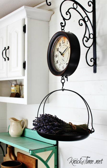 Clock Decor Hanging Scale Clock Retro Vintage Rustic Time Wall Metal