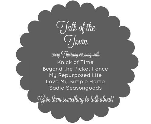 Talk of the Town link party button